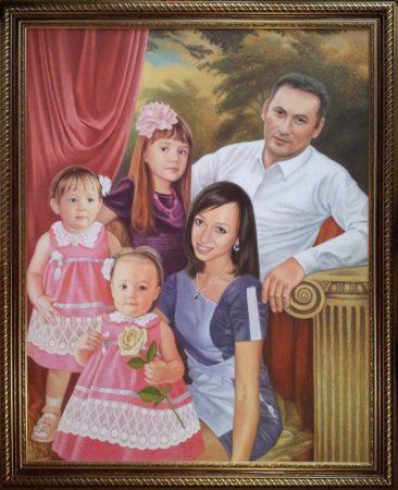 Семейный портрет маслом в Твери — правильная традиция…