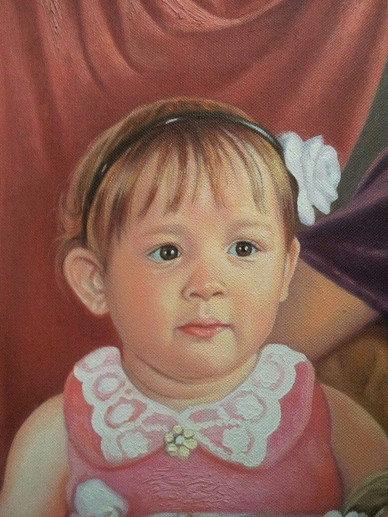 Портрет маслом семейный Тверь