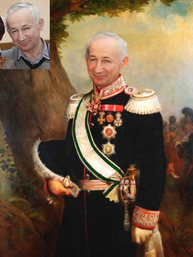 Где заказать исторический портрет по фото на холсте в Твери?