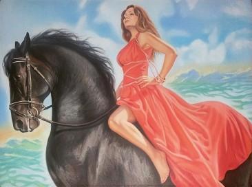 Настоящий портрет маслом на холсте в Твери…
