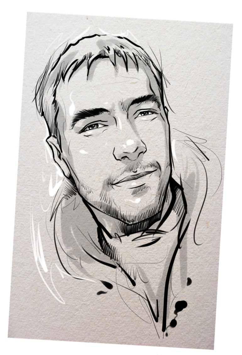 Портрет карандашом любимому мужу в Твери…