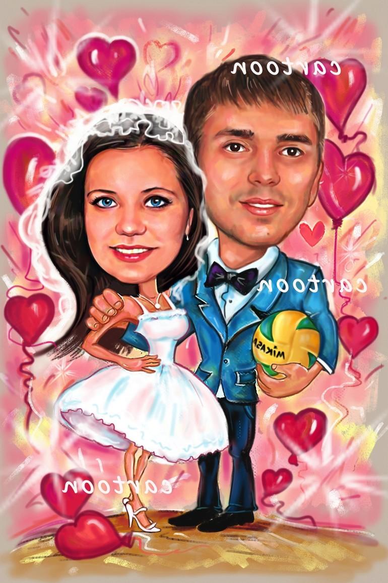 Свадебный шарж с оригинальным сюжетом в Твери!