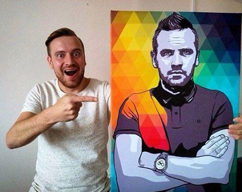 поп арт портрет на заказ для мужа