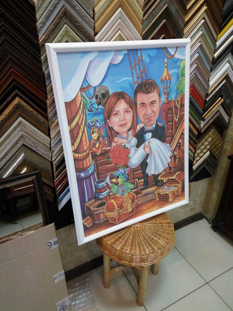 портрет шарж на заказ в Твери