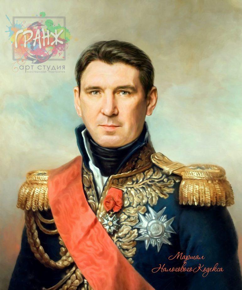 Портрет по фото на холсте в подарок мужчине на 23 февраля Тверь
