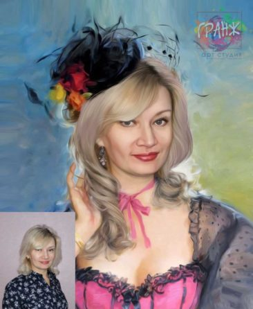 Заказать арт портрет по фото на холсте в Твери