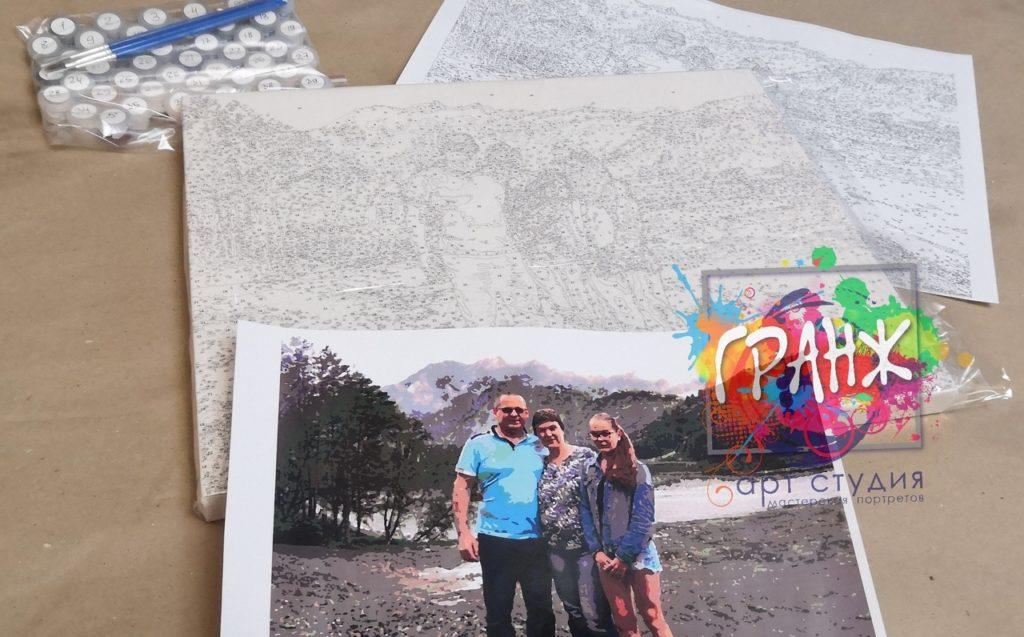 картин по номерам на холсте по фото в Твери