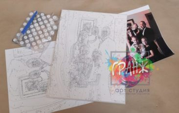 Картина по номерам по фото, портреты на холсте и дереве в Твери